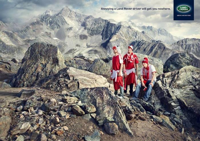 Land Rover print ad