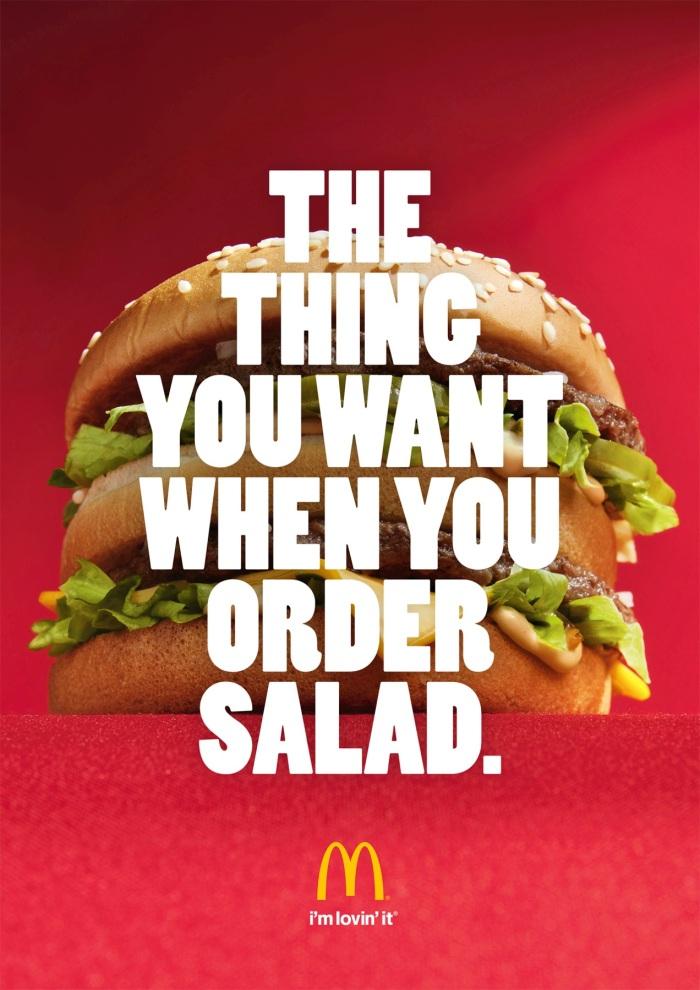 Mcdonalds print ad salad