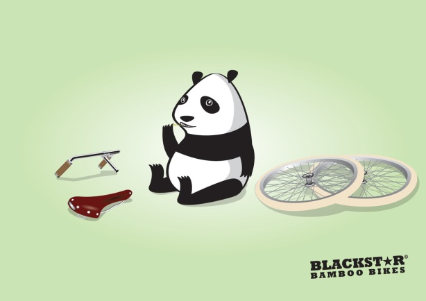 Bamboo Bikes Panda Print ad Bicycle